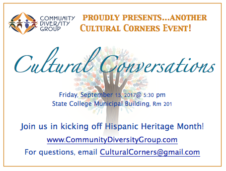 Join us in a conversation with Jorge Zurita-Coronado, President, Latino Caucus at PSU and other Hispanic/Latinx leaders in State College and PSU. Lite refreshments, music and performances!