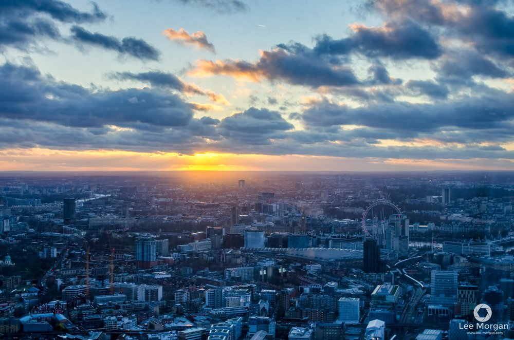 Sunset from The Shard