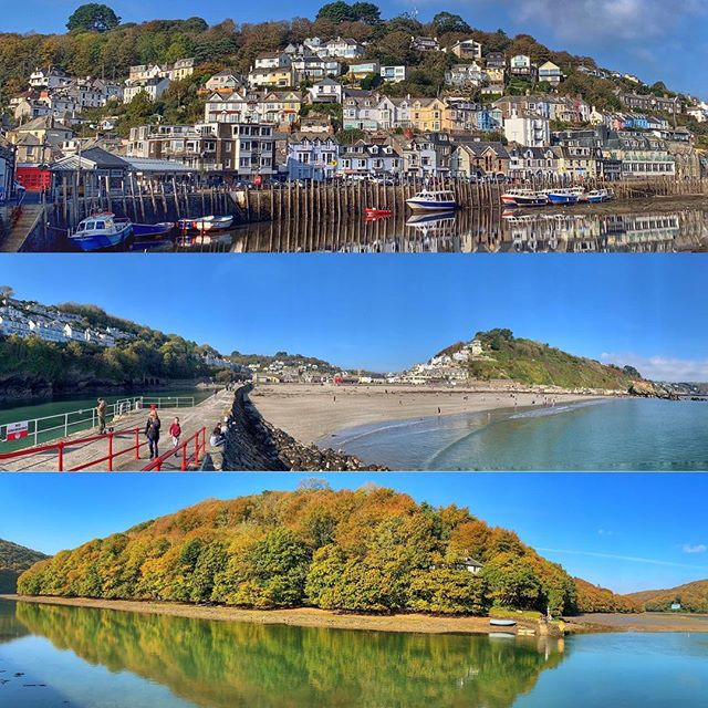 Some fab weather for October visiting Looe today it's been like summer 😎🌤