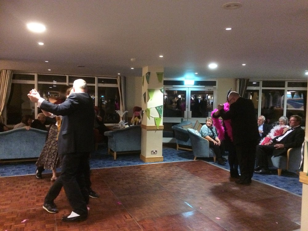 An evening of dinner and dance at Tregarthen's.
