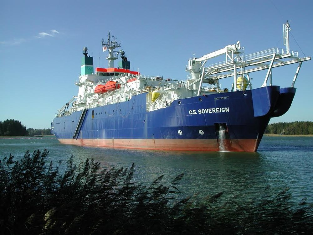 CS Sovereign – the repair vessel which carried out the work on the sub-marine cable.