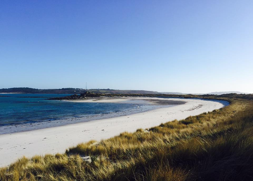 Pentle Bay On Tresco Where The Dolphin Was Rescued. Image courtesy of Tresco Island.