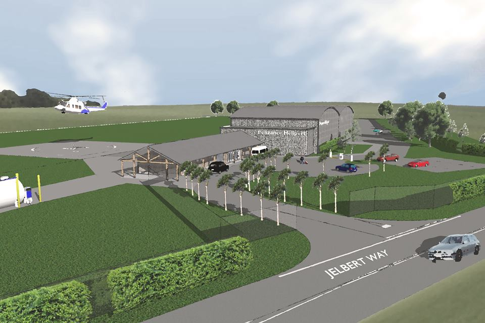 Artistic Impression Of The proposed Heliport In Penzance.