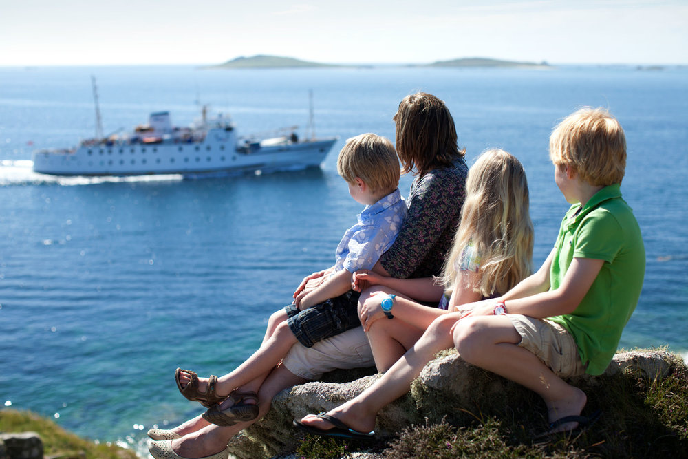 The Scillonian III is celebrating 40 years of sailing to the Isles of Scilly.