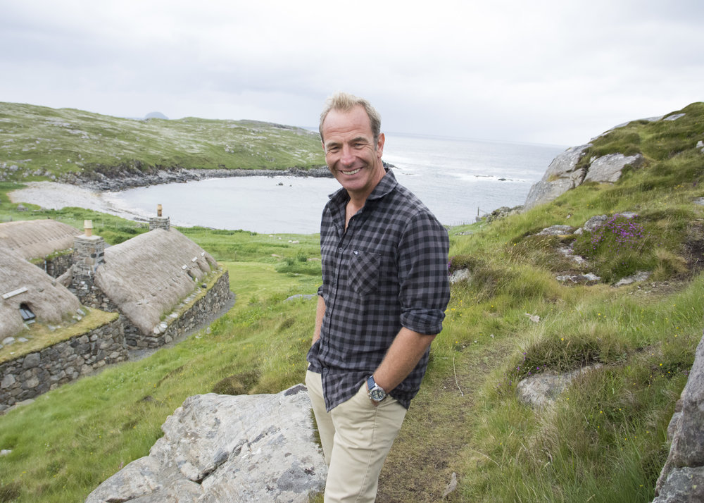 Robson Green In the Hebrides during filming last year. Image courtesy of Shiver and ITV Studios.