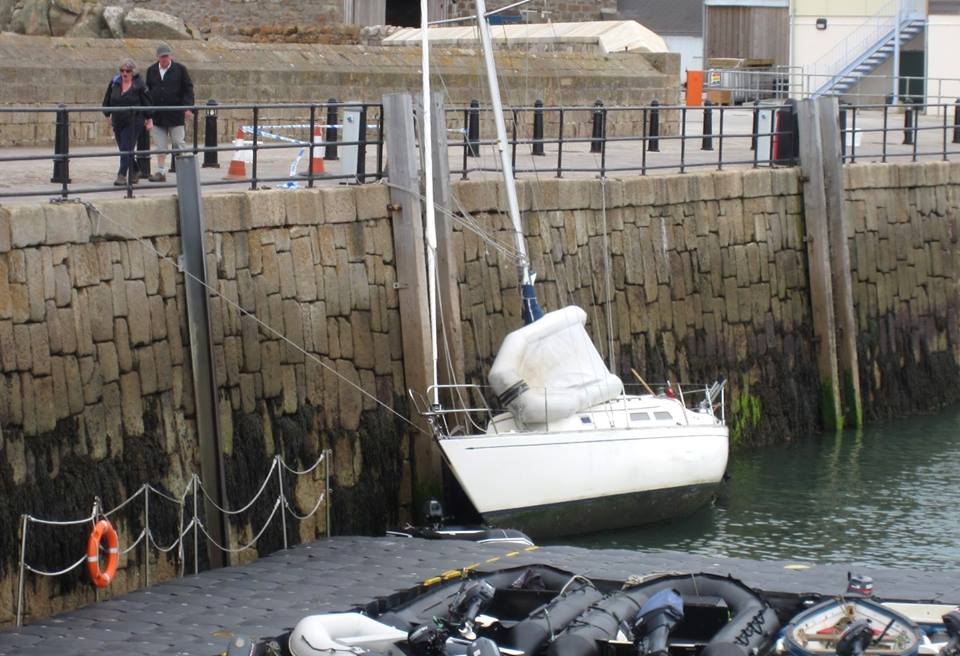 The Yacht Involved Tied Up Alongside The Quay On St Mary's. Image Courtesy Of Robin Mawer.