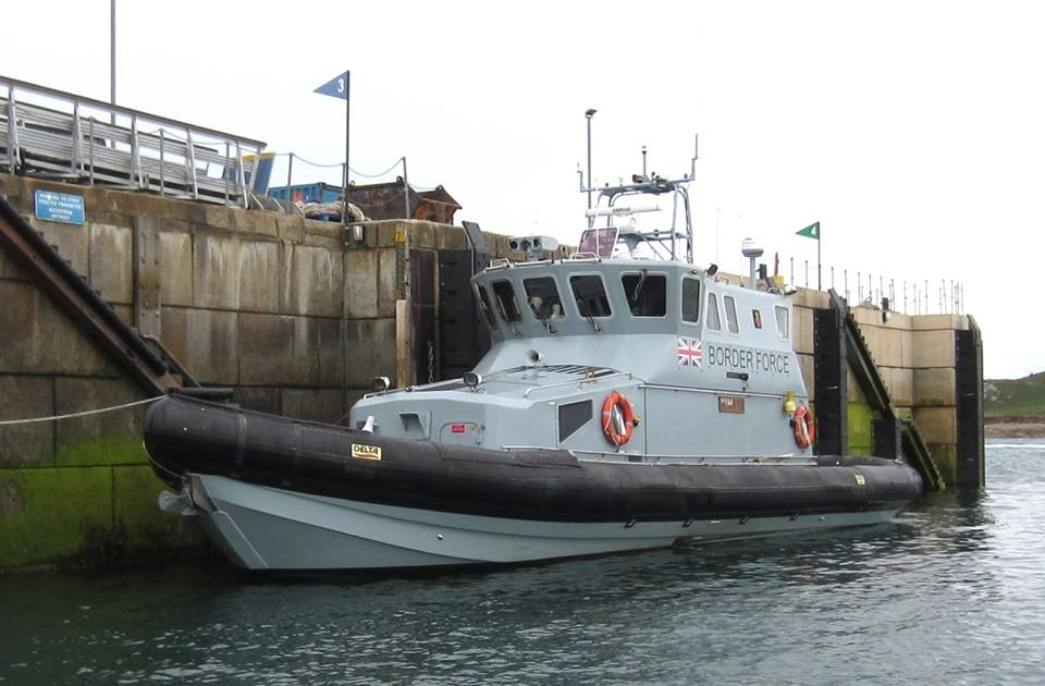 Border Force Coastal Patrol Vessel, Nimrod Intercepted The Yacht Off Scilly. Image Courtesy Of Robin Mawer.