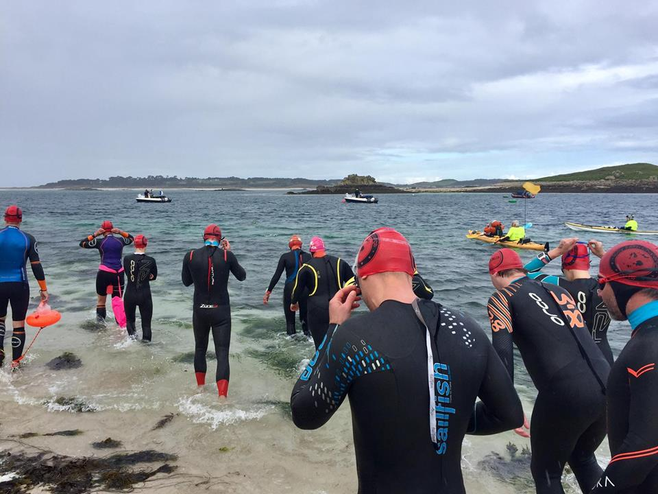 Competitors preparing for another gruelling swim. Image courtesy of Scilly Swim Challenge.