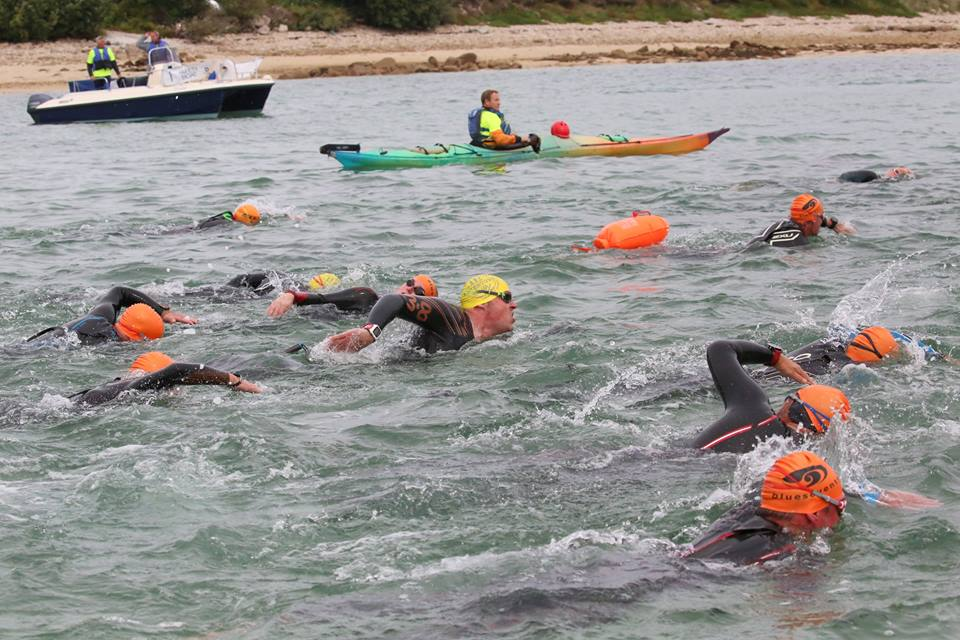 The weather and tidal conditions made the Scilly Swim Challenge even more difficult this year. Image courtesy of Scilly Swim Challenge.