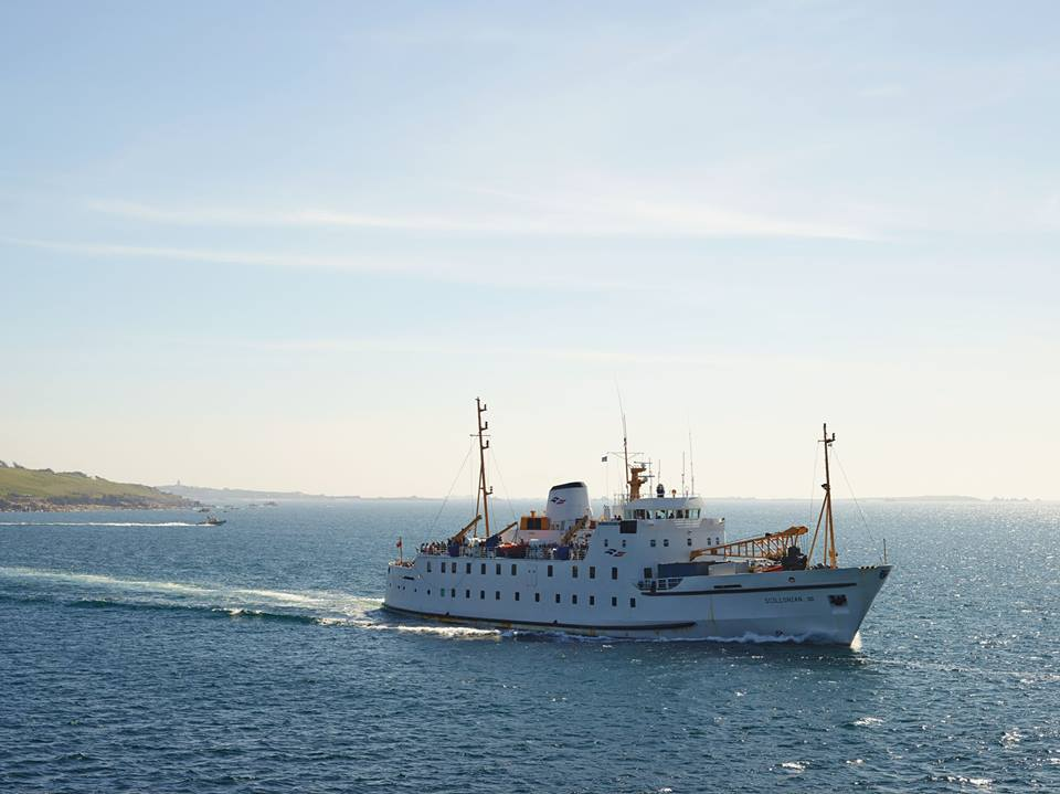 The Scillonian III departing St Mary's for Penzance earlier on in the year. Image courtesy of Isles of Scilly Travel.