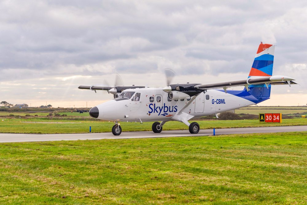 The De Havilland Canada DHC-6 Twin Otter is one of the two aircraft which currently fly to Scilly from Lands End. Images courtesy of Isles of Scilly Travel.