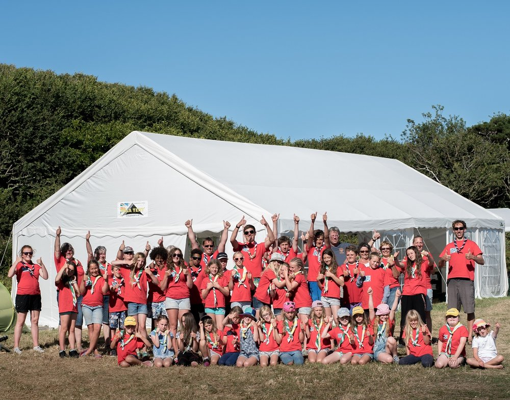 A donation of £1,500 to Brownies and Guides on the Isles of Scilly, who went camping together for the first time in August 2016 thanks to the arrival of a huge marquee paid for by the Isles of Scilly Steamship Company.