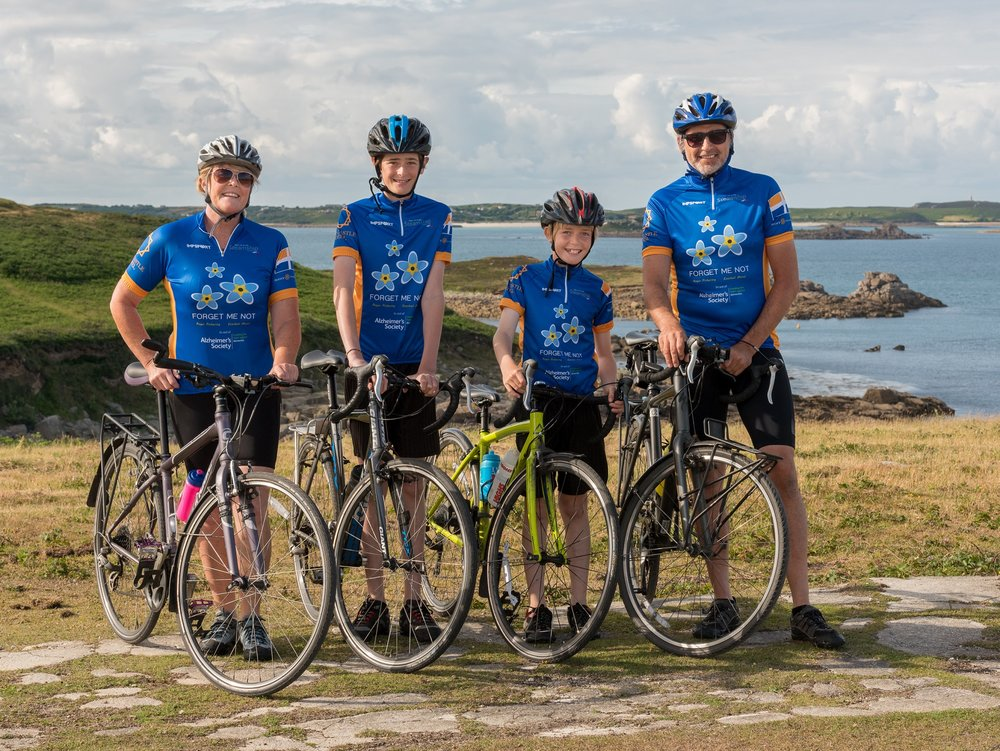A total of £650 to support a Scilly family who cycled unsupported from John O'Groats to Land's End in July 2016 – despite only having five miles of island road to practice on. Pictured here the Morel Family.