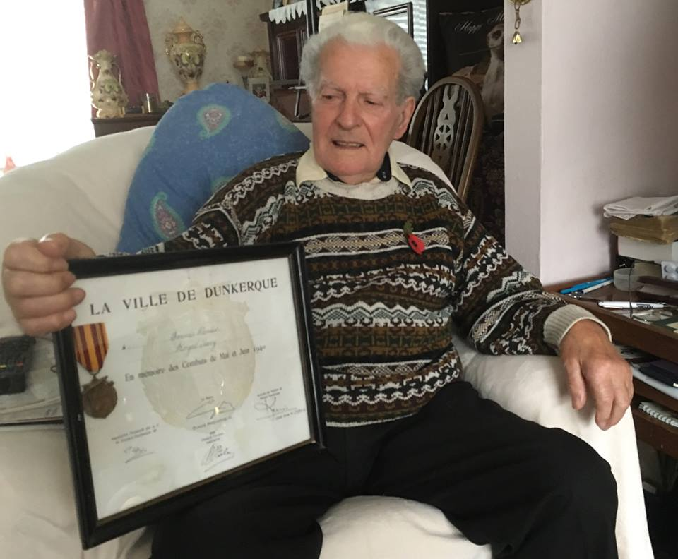 Frank Pender - Medal & Certificate Awarded to Frank from the French Embassy in renegotiation of his services at Dunkirk when he was part of the crew that rescued two French Generals.