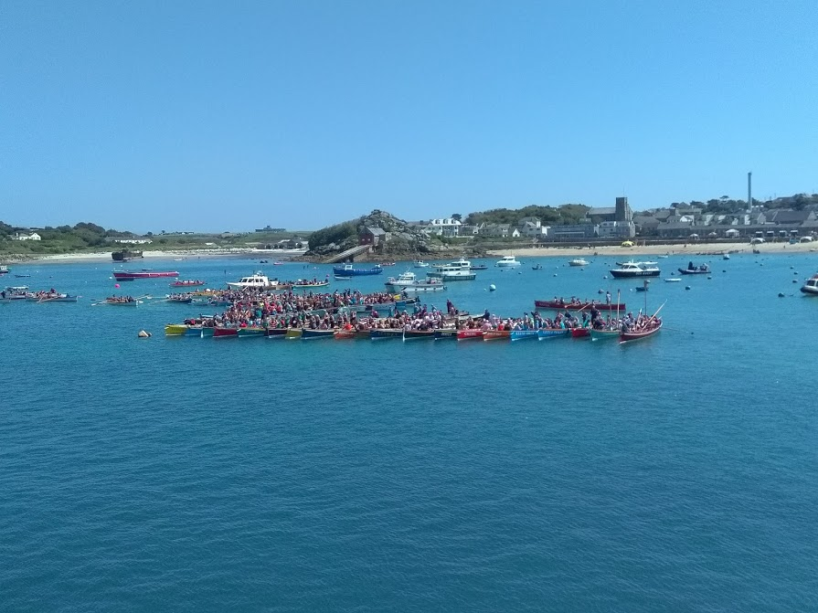 Gigs gathering in St Mary's Harbour to congratulate Currah's Pride Men's World Champions for 2018.