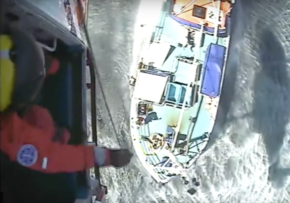 Image of rescue courtesy of the Maritime & Coastguard Agency.
