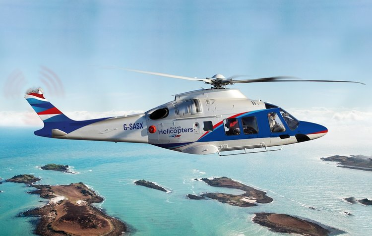 Island Helicopters 10-seater AW169 aircraft has started it's scheduled service to the islands.