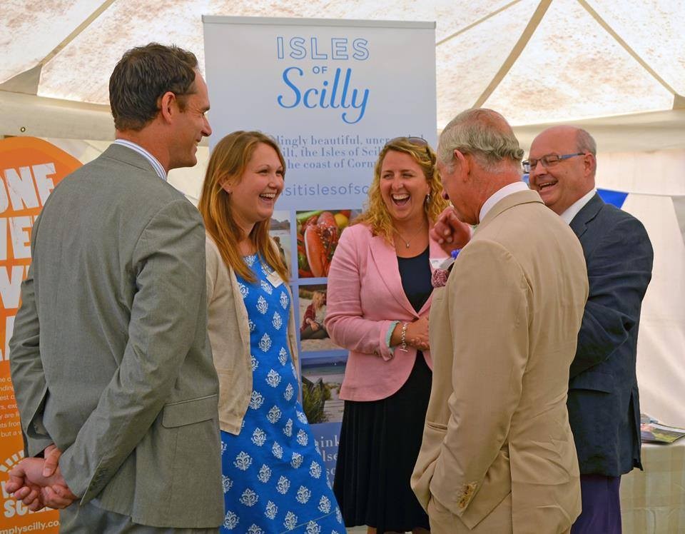 Prince Charles And the Duchess of Cornwall's last visit to Scilly was in July 2015. Image courtesy of Zoe Parry and Islands' Partnership.