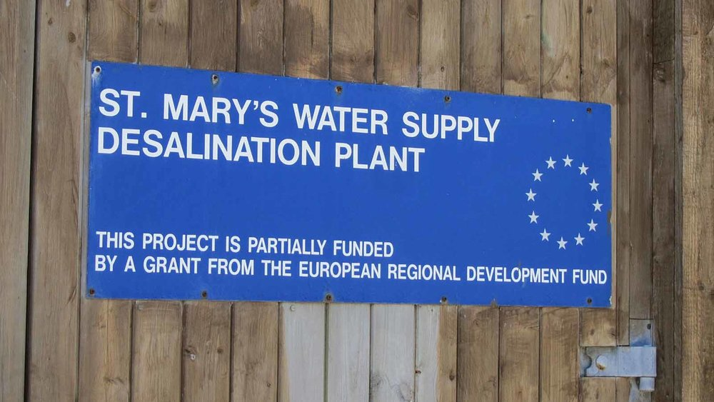 Water on the Isles of Scilly comes from a mixture of inland boreholes and wells and these are supported by a desalination plant on St Mary's.