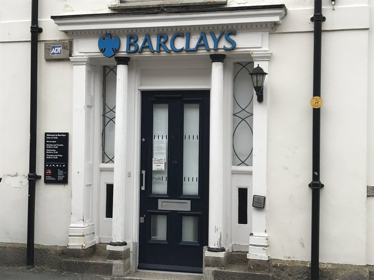 Barclays Bank on St Mary's will close it's doors for good at midday today.