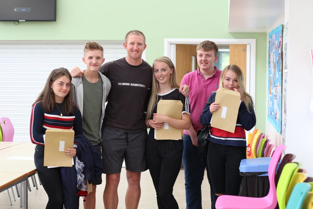 Student from the Five Islands Academy on Scilly picking up their GCSE results in August. Image courtesy of the Five Islands Academy.