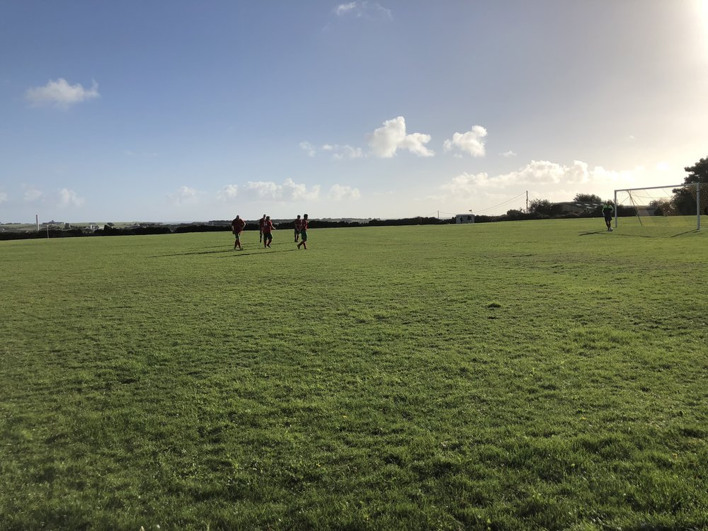 The Garrison Field on St Mary's. The home of the World's Smallest Football League.