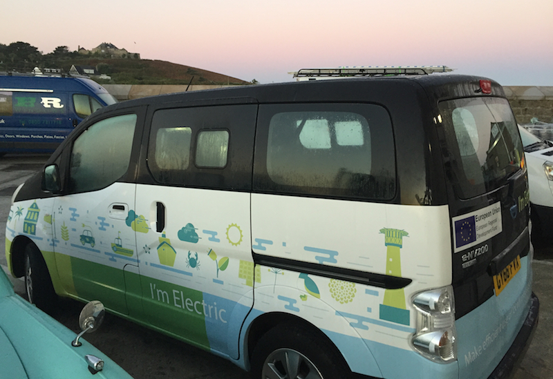 The GO-EV project is part of the Smart Islands programme, and is designed to test how this technology can be used together with a car share scheme to give people a new choice in their travel options.