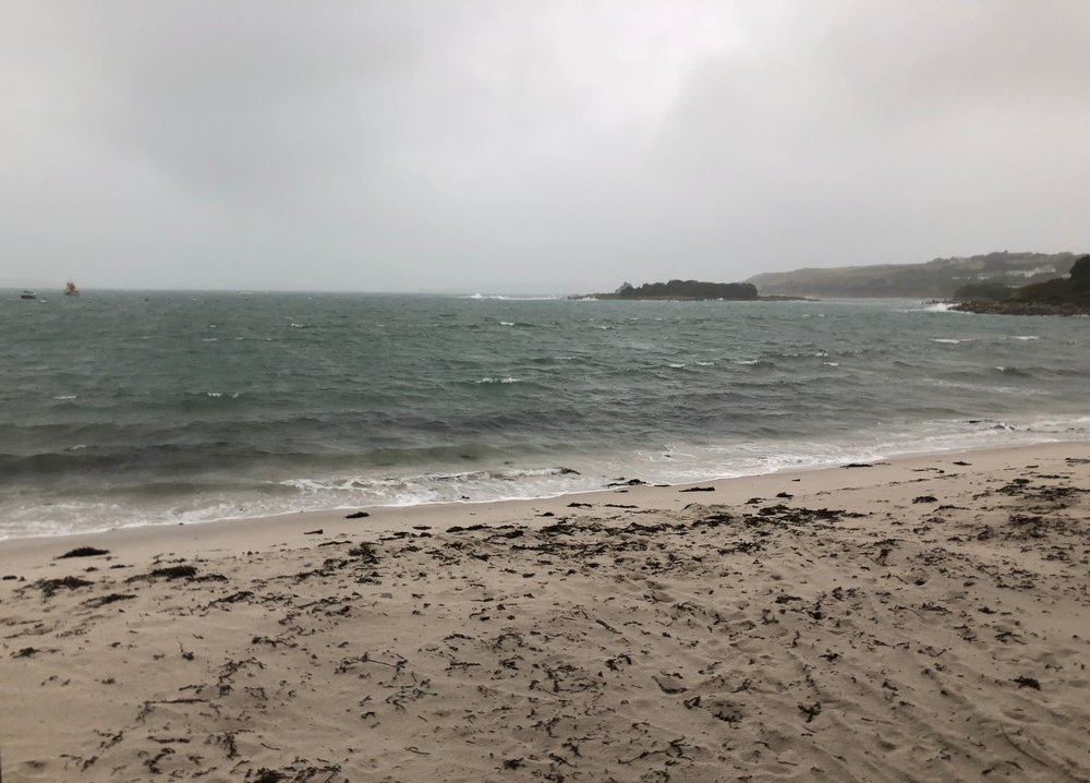 Porthmellon beach on St Mary's this morning.
