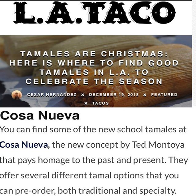 "Check out (and follow) our ""New Thing"" @cosanueva.la featured in the latest by @fukufoodz for @lataco... link in bio"