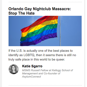 """Orlando Gay Nightclub Massacre: Stop The Hate."" June 13, 2016."