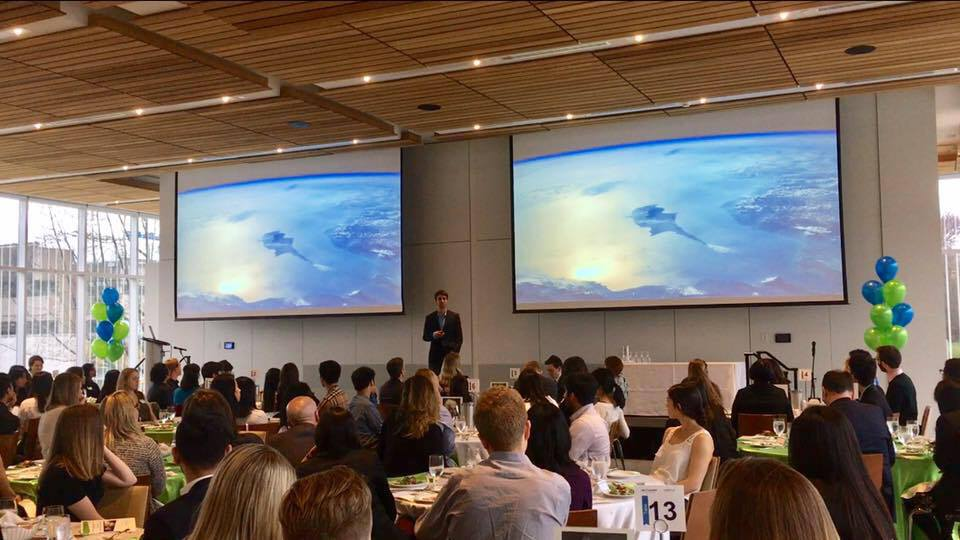 Timurlane delivering a keynote presentation at a Passion to Profession Master of Management event at his Alma Mater, the University of British Columbia.