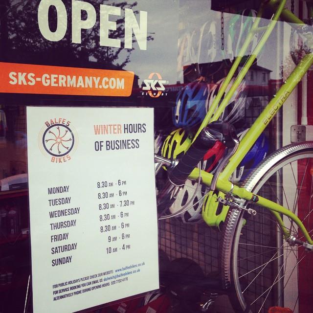 Balfe's Bikes Bike shop in Streatham South London Club