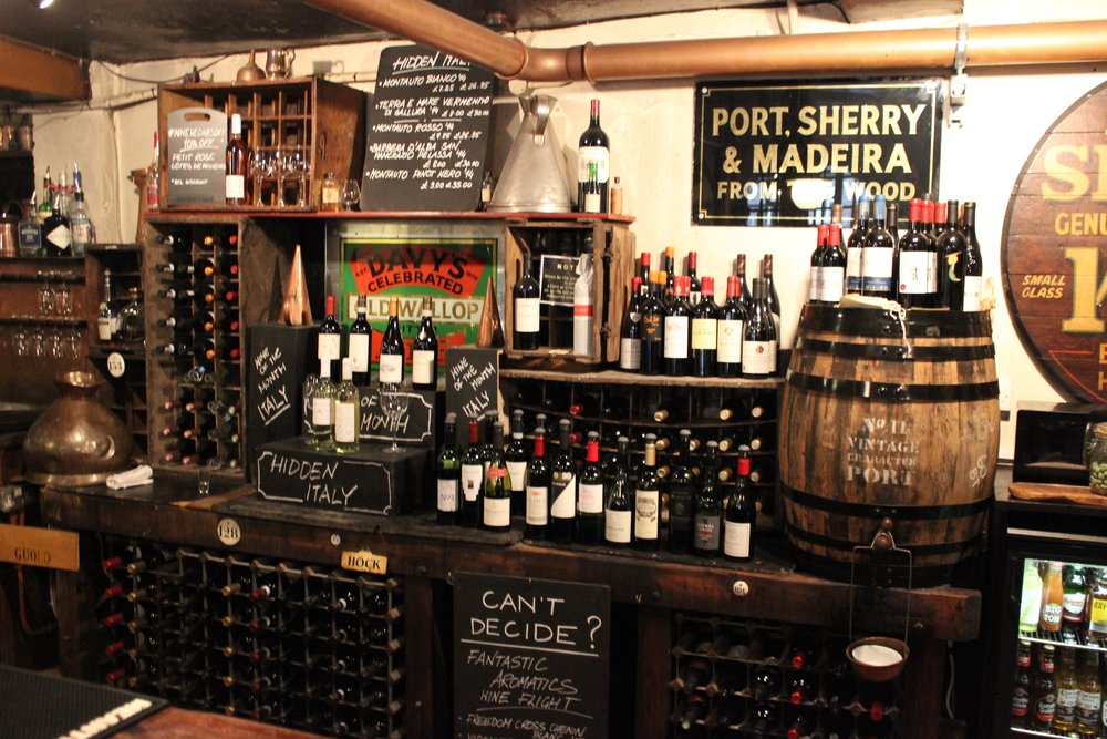 Davy's Wine Vaults Wine Bar and Dining Rooms in Greenwich South London Club