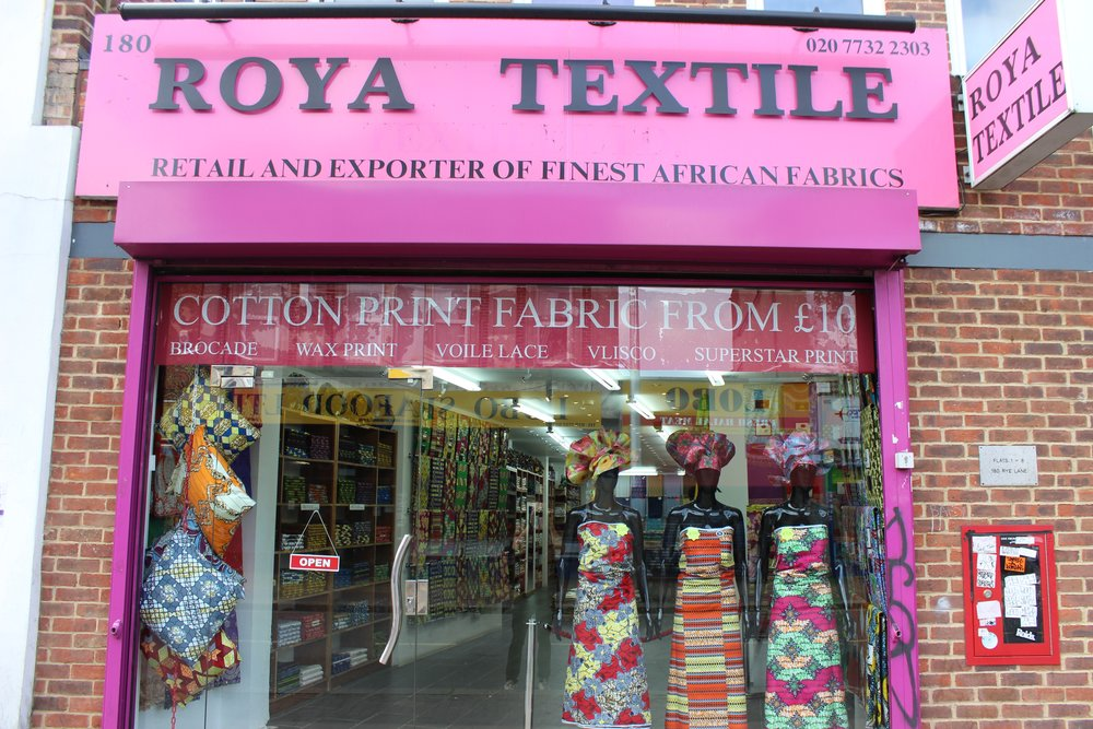 Roya Textile Fabric & Textiles Shop in Peckham South London Club