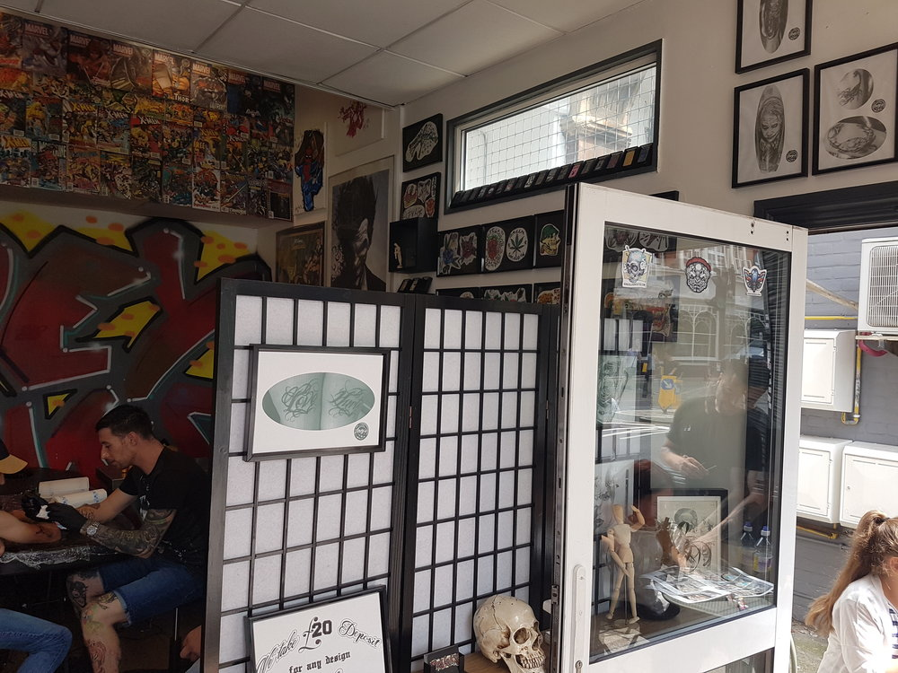 Joey Inks Tattoo Shop in Lewisham South London Club