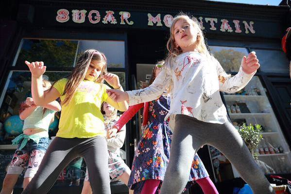 Event for Forest Hill Fashion Week outside Sugar Mountain