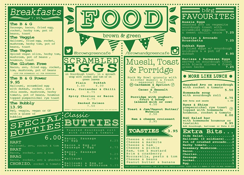 Brown and Green Menu Brunch Kitchen in Crystal Palace South London Club Card.jpg