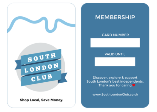 South London Club Membership Card