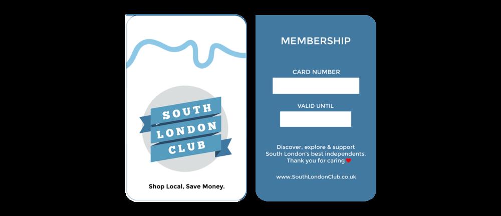 South London Club Card Shop Local