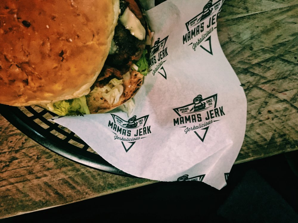Mamas Jerk restaurant and takeaway in Deptford Burger