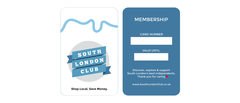 South London Club Card Peckham Rye Lane