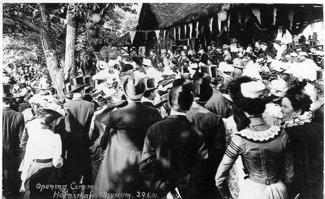 1901 Opening Ceremony  Image:http://www.horniman.ac.uk