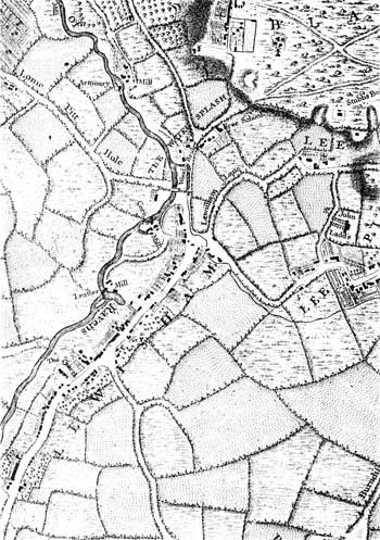 Map of Lewisham, c. 1743 (Ideal Homes: A History of South-East London Suburbs)
