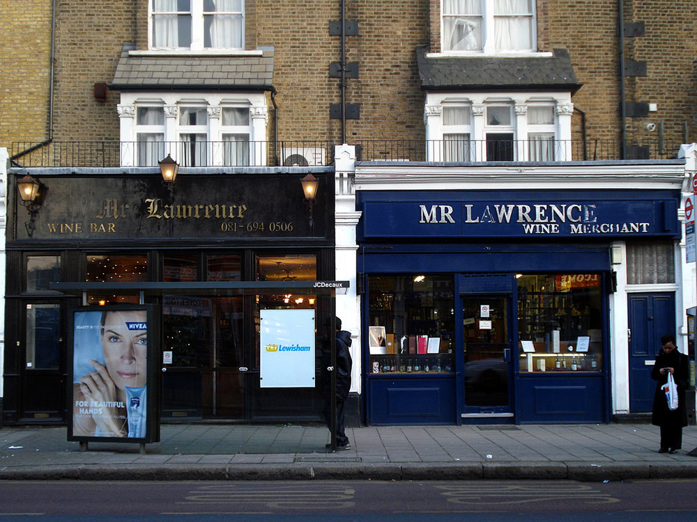 Mr. Lawrence's wine bar before its closure last week.