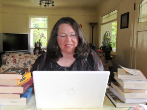 A good writing day – I'm smiling!