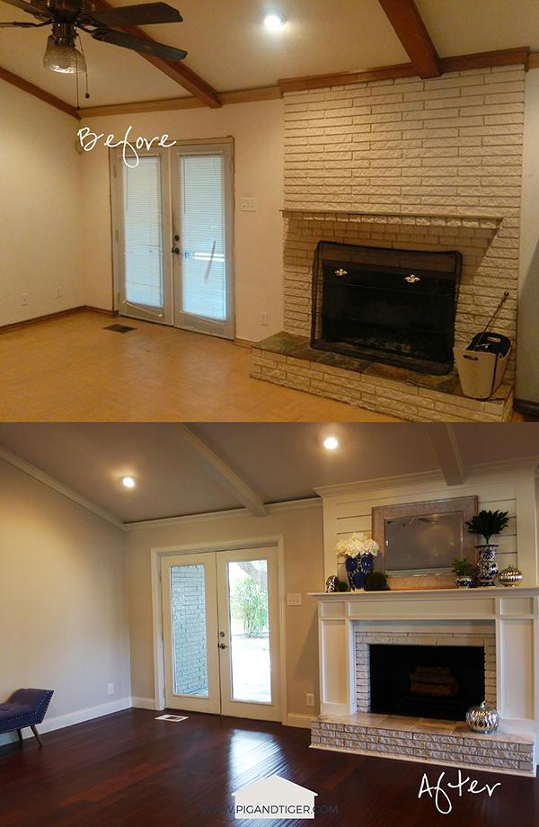 Pig + Tiger Renovation | Fireplace Makeover Before + After