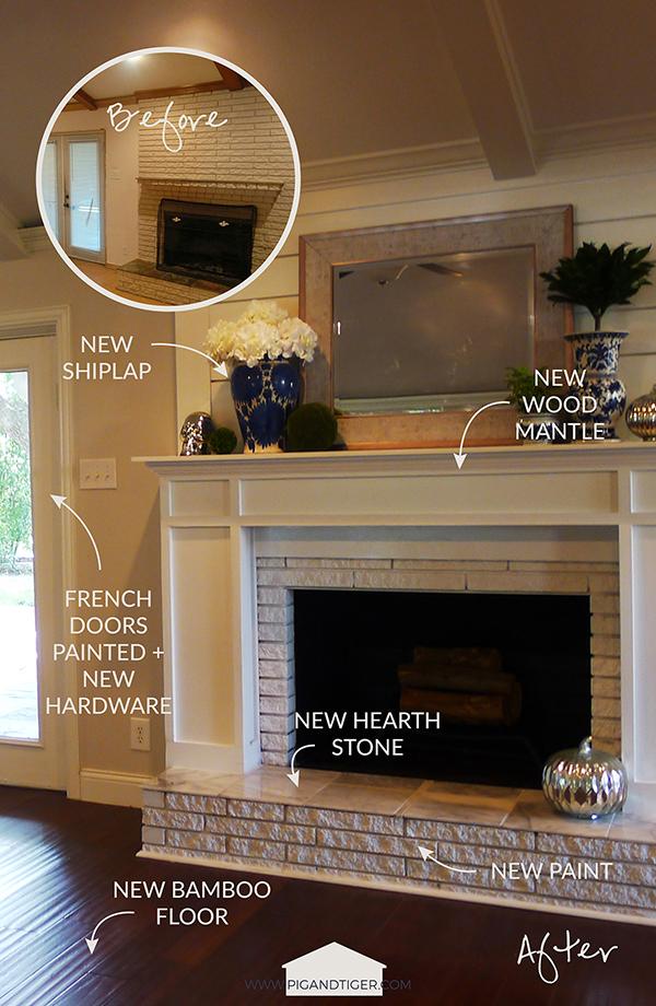 Pig + Tiger Renovation | Fireplace Makeover After