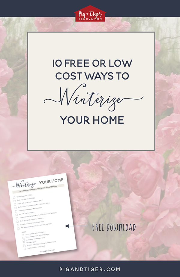 Ten free and low cost ways to winterize your home now