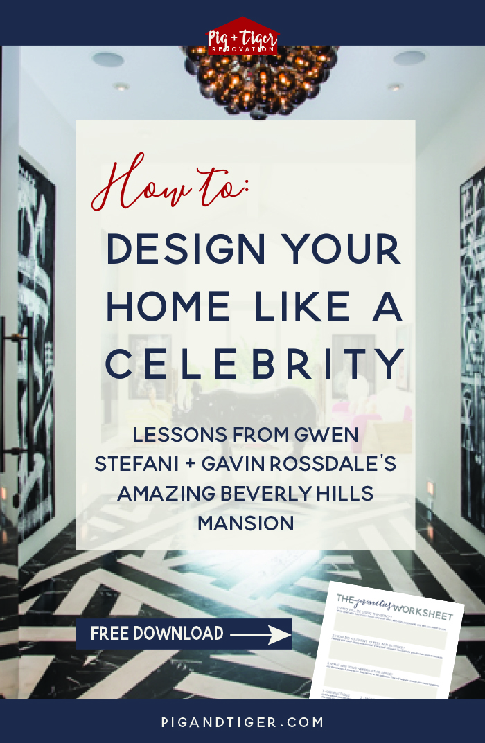 Learn from celebrities | What to do and what NOT to do to design your perfect home | Lessons on the blog | Pig + Tiger Renovation