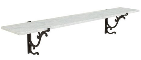 4' marble shelf $160 (sale)